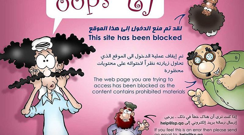 Qatar website blocked