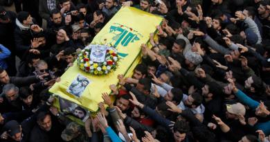 Hezbollah fighter's funeral