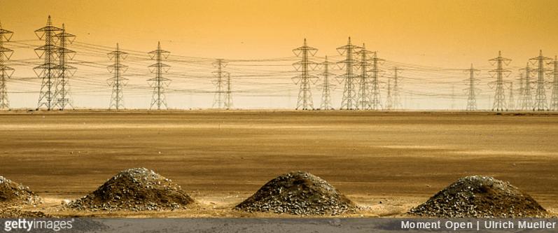 Saudi power lines