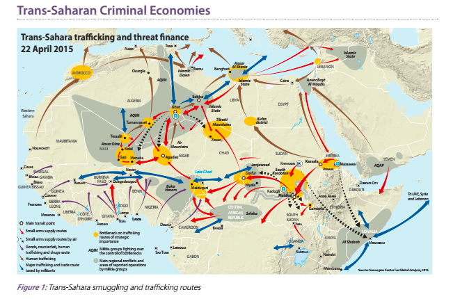Trans-Sahara trafficking and threat finance